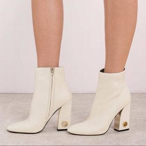 Dolce Vita Valley Boots NWB White Ankle Boot